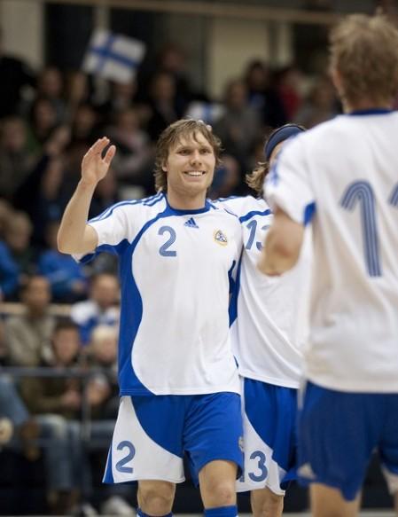 Maalituuletus viime vuoden Slovakia-ottelusta (kuva: www.futsal.fi)